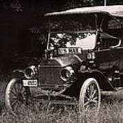 Vintage Photo Of Rural Mail Carrier - 1914 Art Print