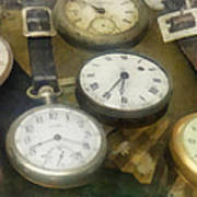 Vintage Pocket Watches Art Print