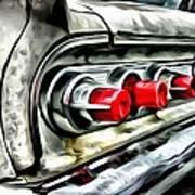 Vintage Pontiac Taillights Art Print