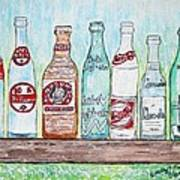 Vintage Pop Bottles Art Print