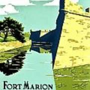 Vintage Poster - Fort Marion Art Print