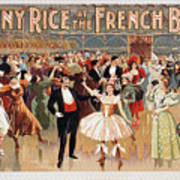 Vintage Poster Fanny Rice At The French Ball Art Print