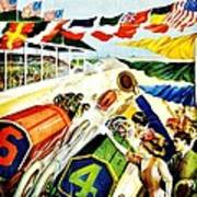 Vintage Poster - Sports - Indy 500 Art Print