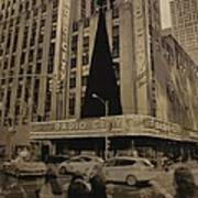 Vintage Radio City Music Hall Art Print