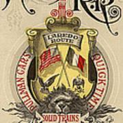 Vintage Train Ad 1897 Art Print