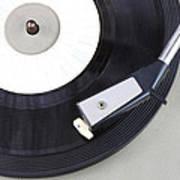 Vintage Record Player Close Up. Vintage Gramophone Art Print