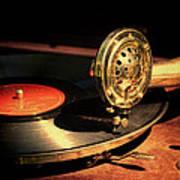 Vintage Record Player Art Print