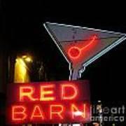 Vintage Red Barn Neon Sign Las Vegas Art Print