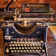 Vintage Remington Typewriter  Art Print