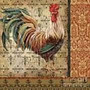 Vintage Rooster-a Art Print