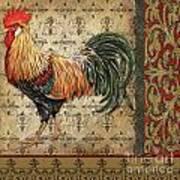 Vintage Rooster-d Art Print