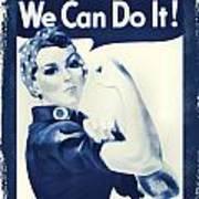 Vintage Rosie The Riveter Art Print by Dan Sproul