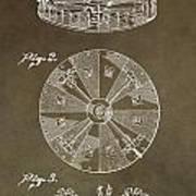 Vintage Roulette Wheel Patent Art Print