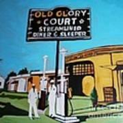 Vintage Route 66 Diner Sleeper Art Print