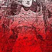 Vintage Ruby Portrait Art Print