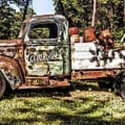 Vintage Rusty Old Truck 1940 Art Print
