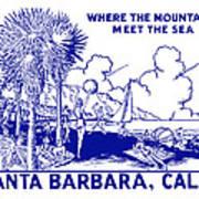 Vintage Santa Barbara Art Print