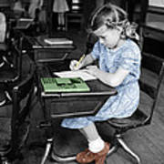 Vintage Schoolgirl Art Print