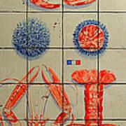 Vintage Seafood Sign 3 Art Print