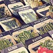 Vintage Seed Packages Art Print by Edward Fielding