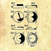 Vintage Self-winding Watch Movement Patent Art Print