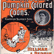 Vintage Sheet Music Cover Circa 1896 Art Print by M Witmmark and Sons