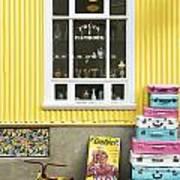 Vintage Shop In Akureyri Iceland Art Print