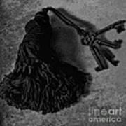 Vintage Skeleton Keys_tassled Bw Art Print