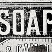Vintage Soap Crate In Black And White Art Print