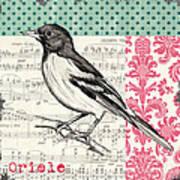 Vintage Songbird 2 Art Print by Debbie DeWitt