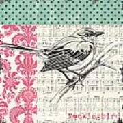 Vintage Songbird 4 Art Print