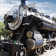 Vintage Steam Locomotive 5d29110 Art Print