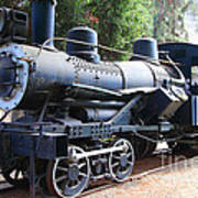 Vintage Steam Locomotive 5d29168 Art Print