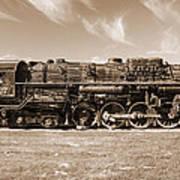 Vintage Steam Locomotive Art Print