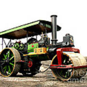 Vintage Steam Roller Art Print