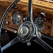 Vintage Steering  Art Print