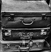 Vintage Suitcases Art Print
