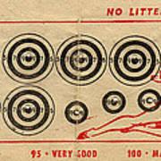 Vintage Target Card Art Print