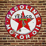 Vintage Texaco Gasoline Sign Dsc07195 Art Print
