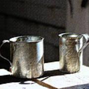 Vintage Tin Cups Art Print