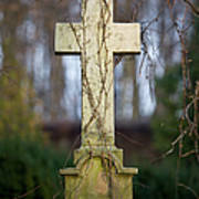 Vintage Tombstone Cross Art Print
