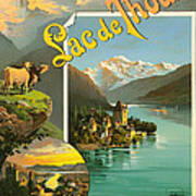 Vintage Tourism Poster 1890 Print by Mountain Dreams
