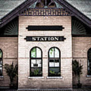 Vintage Train Station Art Print
