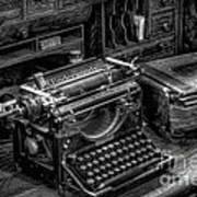 Vintage Typewriter Art Print by Adrian Evans