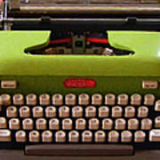 Vintage Typewriter - Painterly - Square Art Print by Wingsdomain Art and Photography
