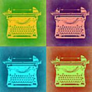 Vintage Typewriter Pop Art 1 Art Print