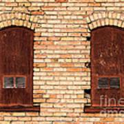 Vintage Urban Brick Building - Salt Lake City Art Print