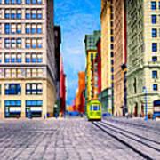 Vintage View Of New York City - Union Square Art Print