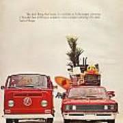 Vintage Volkswagen Camper Van  Art Print