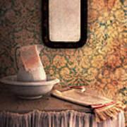 Vintage Wash Basin And Pitcher Art Print